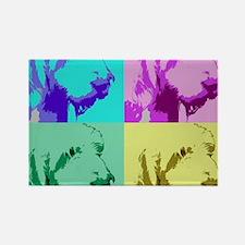 Spinone a la Warhol 2 Rectangle Magnet