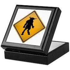 Minotaur Warning Sign Keepsake Box