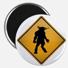 Minotaur Warning Sign Magnet
