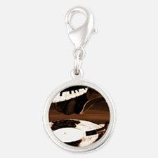 Brown See The Song Silver Round Charm