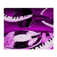 Purple See The Song Throw Blanket