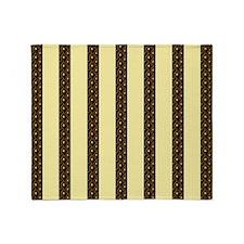 Gold Stripes Throw Blanket