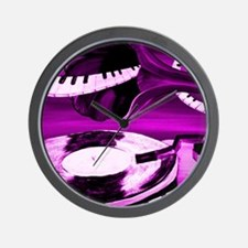 Purple See The Song Wall Clock