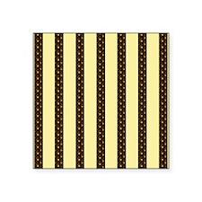 "Gold Stripes Square Sticker 3"" x 3"""