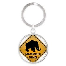 Mammoth Crossing Sign Round Keychain
