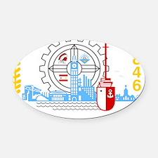 Milwaukee Seal Oval Car Magnet