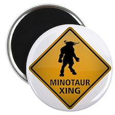 Minotaur Crossing Sign Magnet