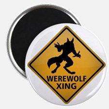 Werewolf Crossing Sign Magnet
