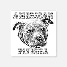 """American Pitbull Square Sticker 3"""" x 3"""""""
