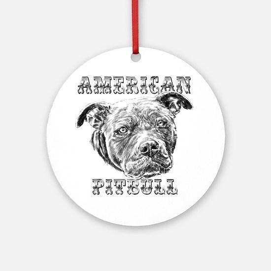 American Pitbull Round Ornament