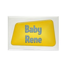 Baby Rene Rectangle Magnet