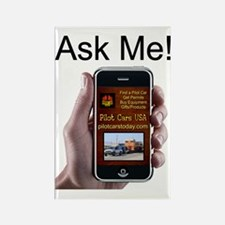 Ask Me-phoneapp Rectangle Magnet