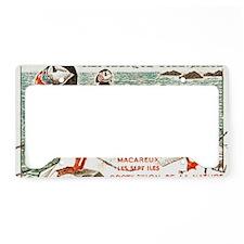 France Atlantic Puffin Stamp  License Plate Holder