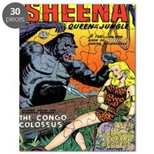 Sheena Queen of the Jungle Classic Covers # Puzzle