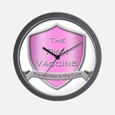 The Pink Vaccine Shield Wall Clock