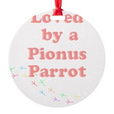 Loved by a  Pionus Parrot Ornament