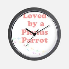 Loved by a  Pionus Parrot Wall Clock