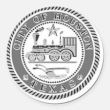Houston Seal Round Car Magnet