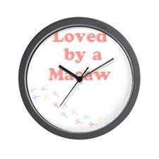 Loved by a Macaw Wall Clock