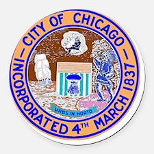 Chicago Seal Round Car Magnet
