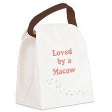 Loved by a Macaw Canvas Lunch Bag