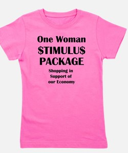 One Woman Stimulus Package Girl's Tee