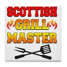 Scottish Grill Master Apron Tile Coaster