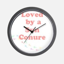 Loved by a  Sun Conure Wall Clock