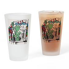 graffiti new york city Drinking Glass
