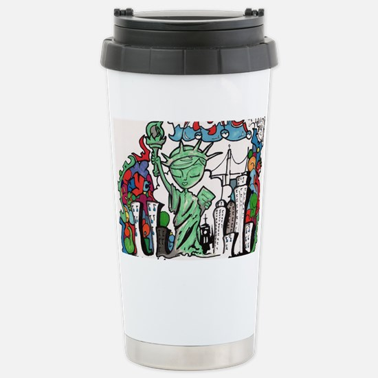 graffiti new york city Stainless Steel Travel Mug