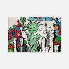 graffiti new york city Rectangle Magnet