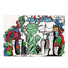 graffiti new york city Postcards (Package of 8)