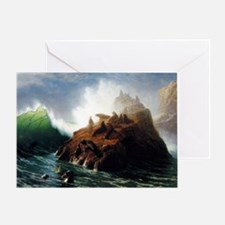 Bierstadt Seal Rock Greeting Card