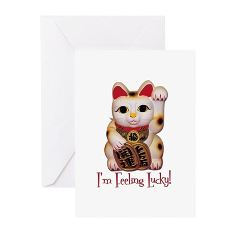 I'm Feeling Lucky Cat Greeting Cards (Pk of 10