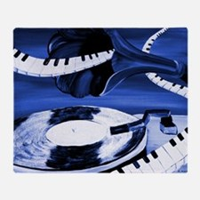 See The Song Blue Abstract Throw Blanket