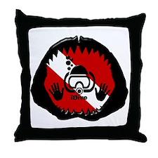iDive Scuba Shark Jaw Throw Pillow
