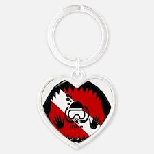 iDive Scuba Shark Jaw Heart Keychain