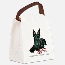 Scottish Terrier Rescue Me Canvas Lunch Bag
