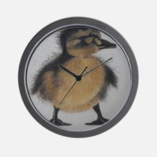 Drawing of Fuzzy Duckling Wall Clock