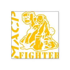 "MACP Fighter Gold Square Sticker 3"" x 3"""
