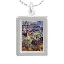 grand canyon Silver Portrait Necklace