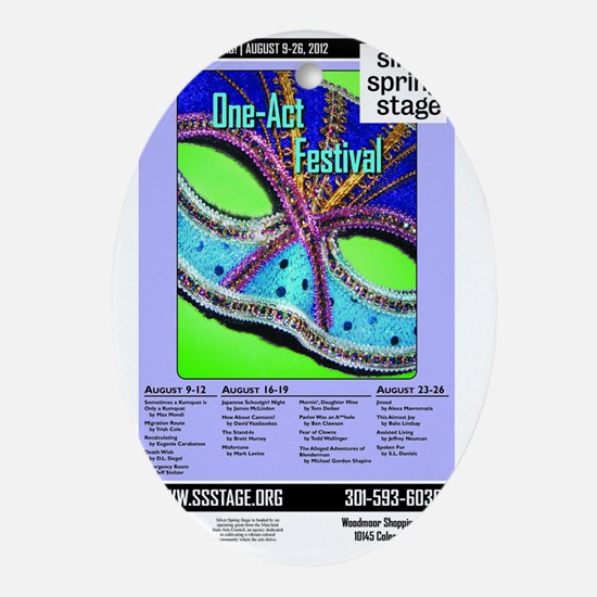 SSS 2012 1Acts poster Oval Ornament