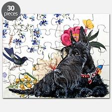 Scottish Terrier Hummingbird Puzzle