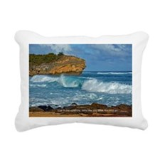 Shipwreck Beach Shorebre Rectangular Canvas Pillow