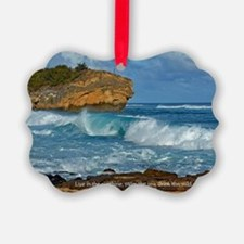 Shipwreck Beach Shorebreaks Ornament