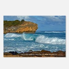 Shipwreck Beach Shorebrea Postcards (Package of 8)