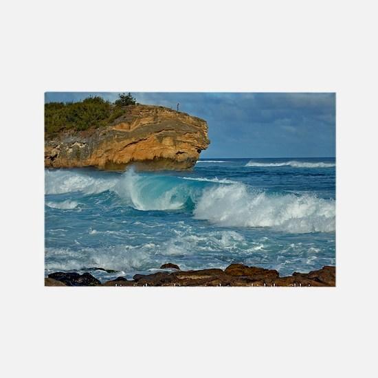 Shipwreck Beach Shorebreaks Rectangle Magnet