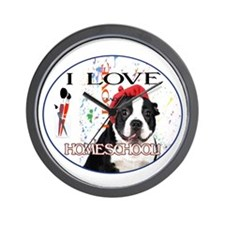 Homeschool Dog Wall Clock