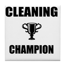cleaning champ Tile Coaster