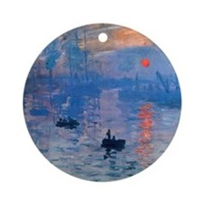 Monet Sunrise Round Ornament